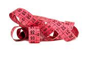 Measuring pink ribbon