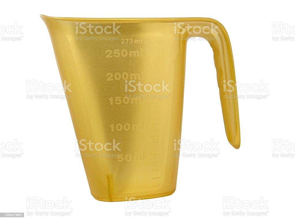 Medición. Recipiente de plástico foto de stock libre de derechos