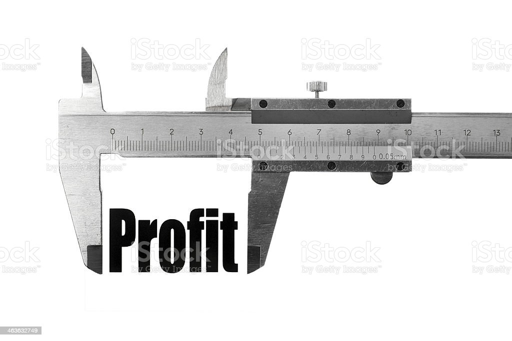 Measuring profit royalty-free stock photo