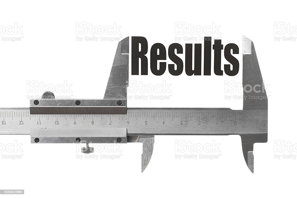 Measuring results stock photo