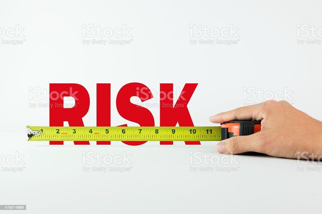 Measuring risk stock photo