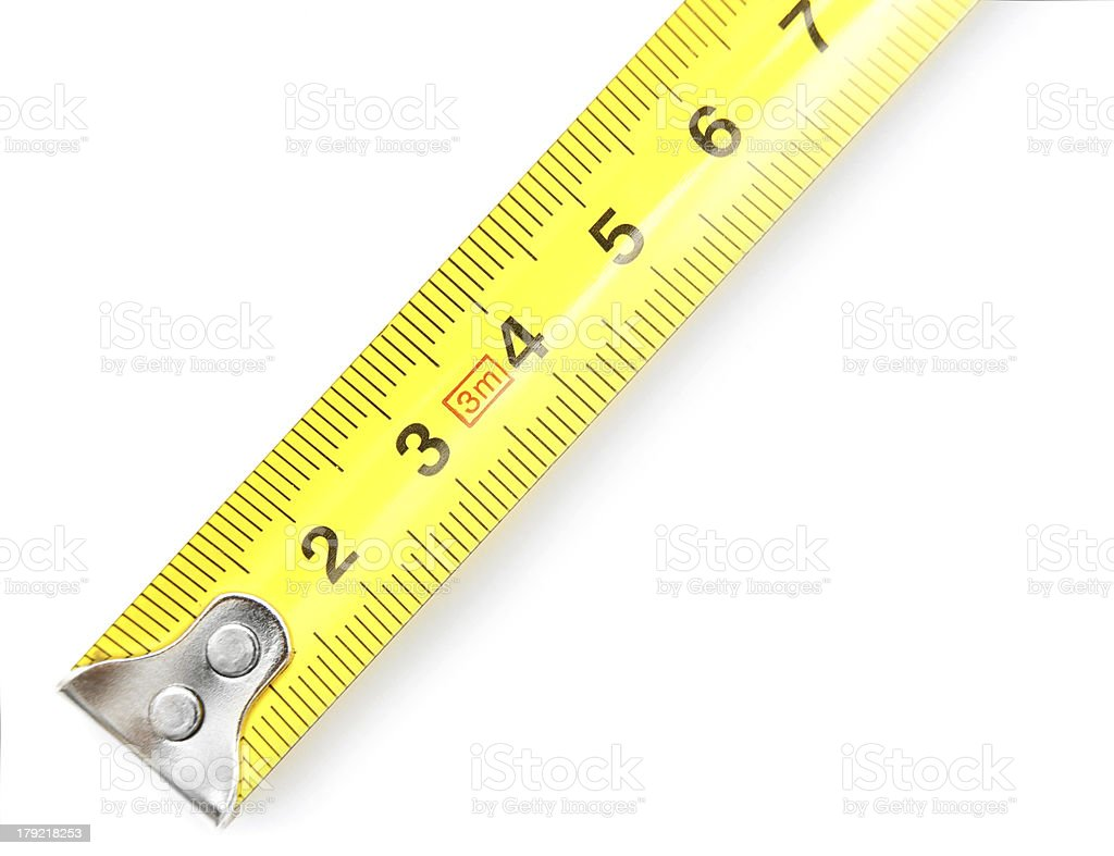Measuring roulette. On a white background. royalty-free stock photo