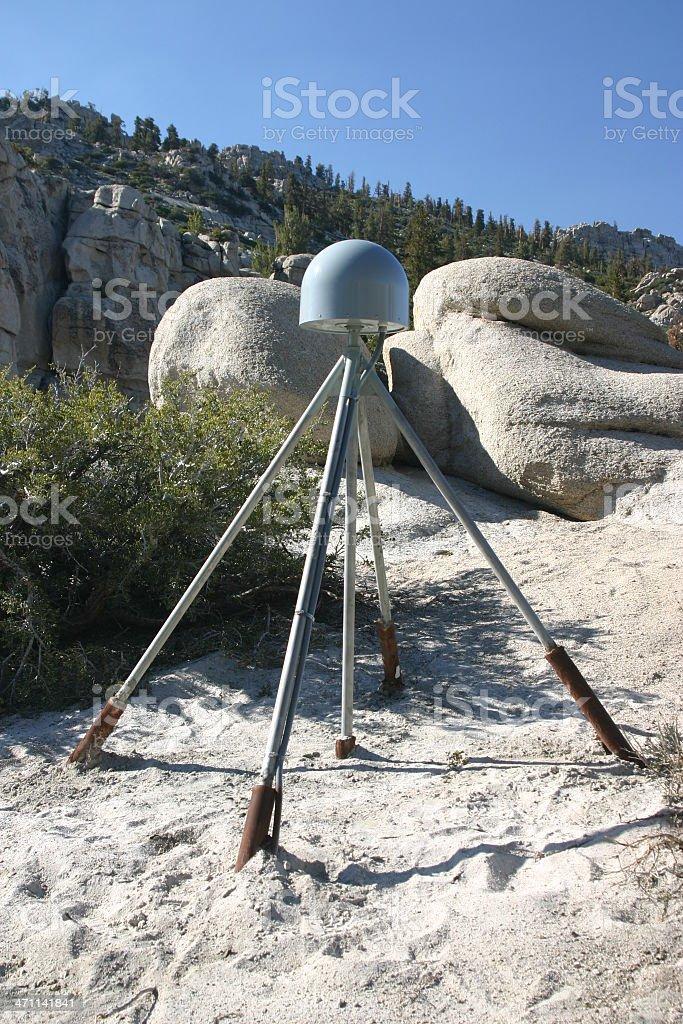 Measuring Seismic Activity in Sierra Nevada royalty-free stock photo