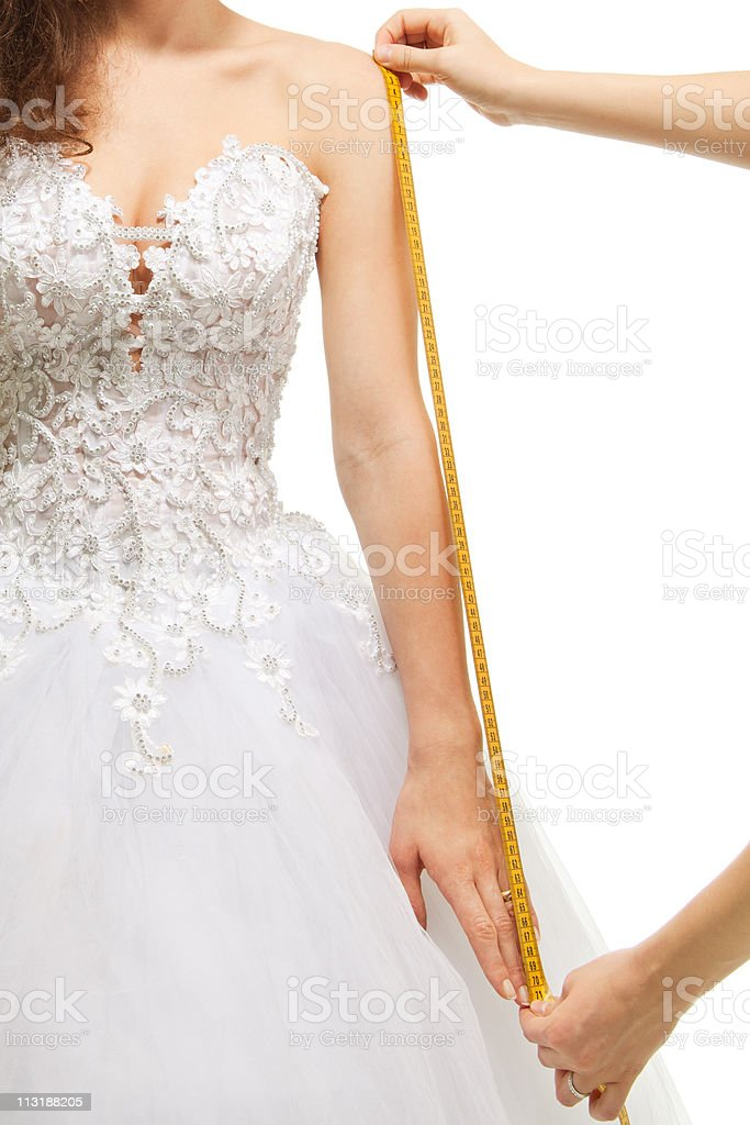 Measuring size of the arm royalty-free stock photo