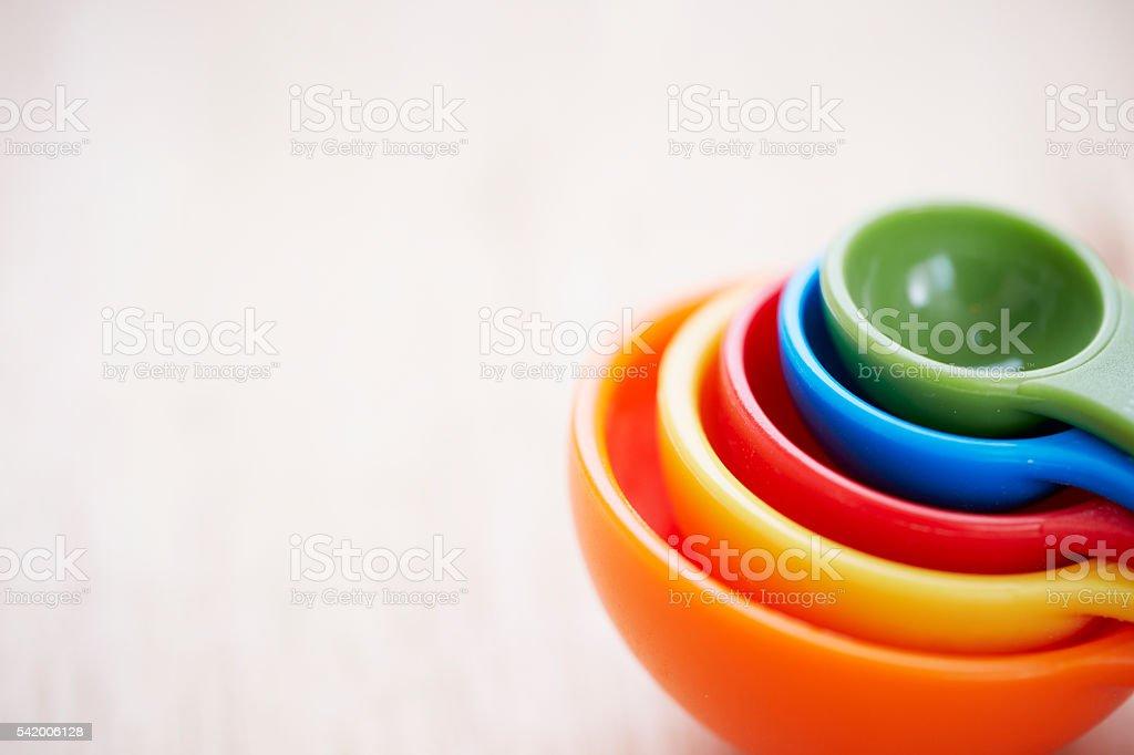 Measuring spoon stock photo