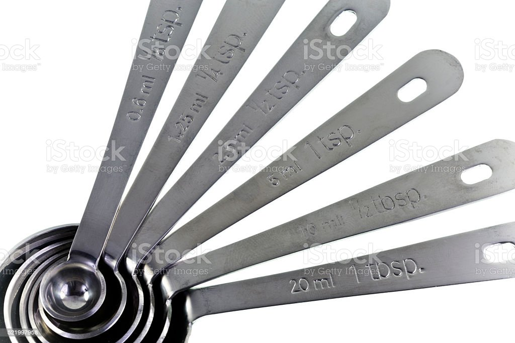 Measuring Spoons Set stock photo