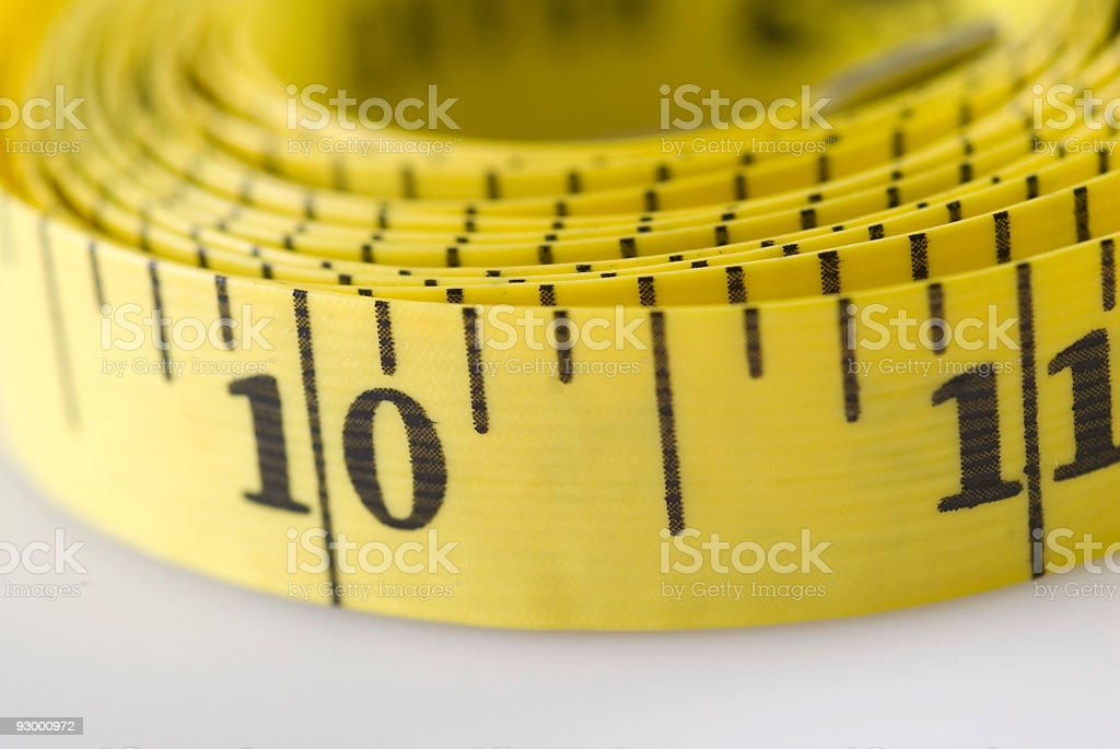 Measuring tape, close-up royalty-free stock photo
