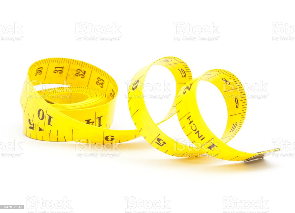 measuring tape of the tailor for you design stock photo