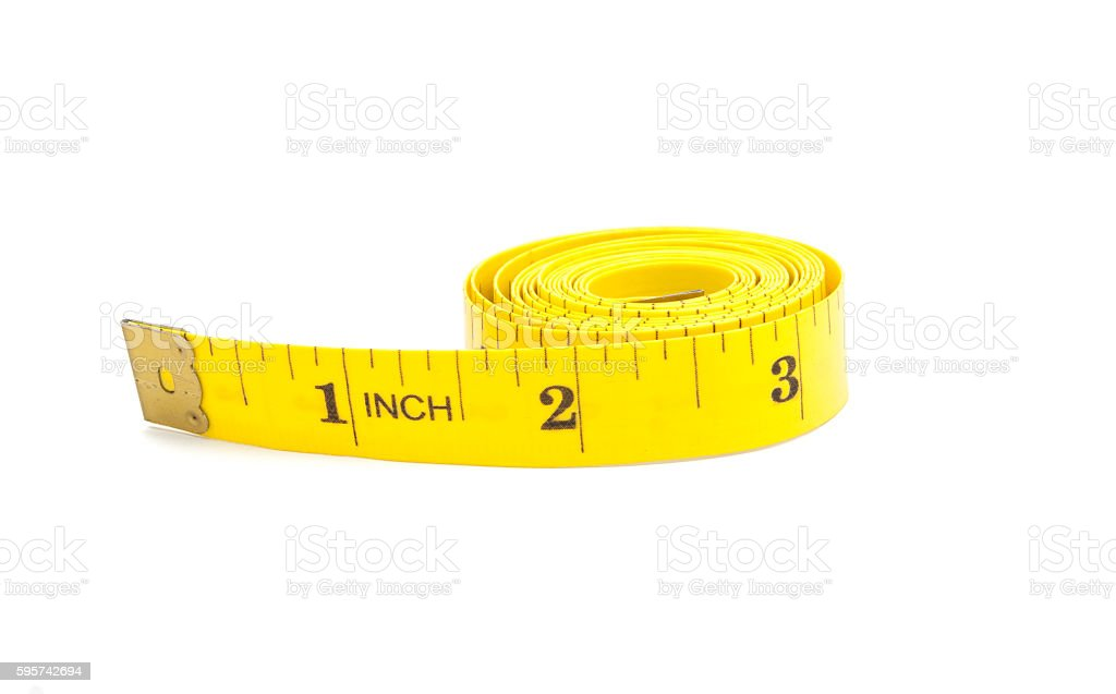 measuring tape of the tailor isolated stock photo