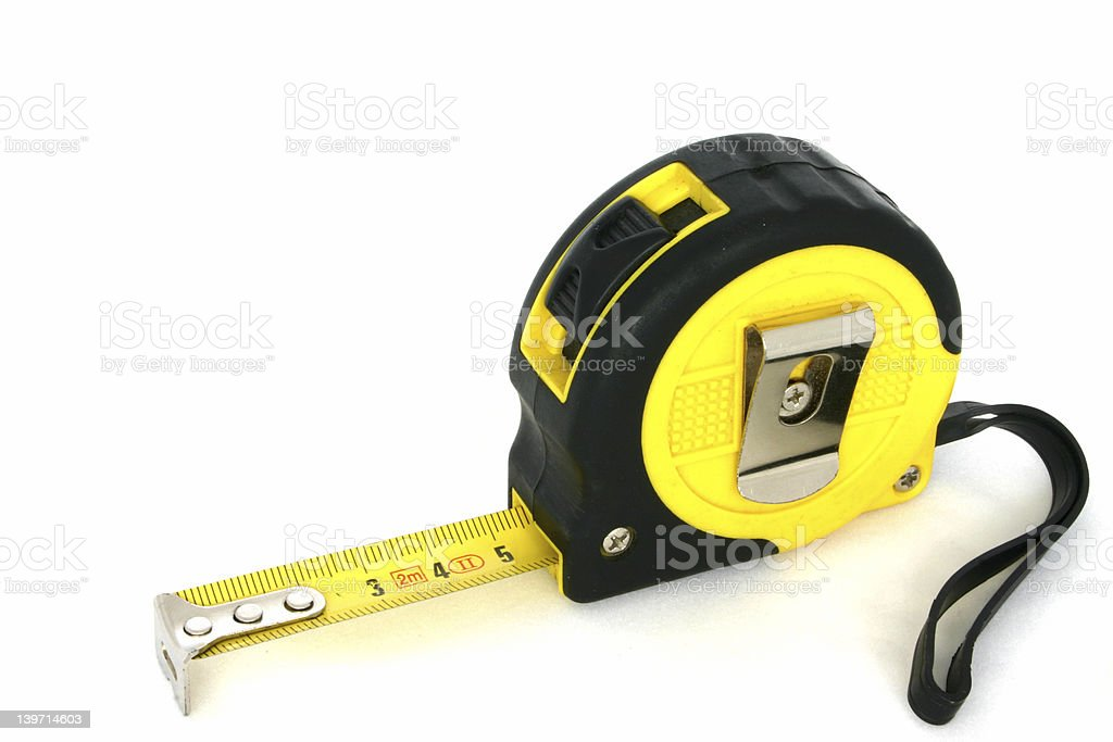 measuring tape on white #6 royalty-free stock photo