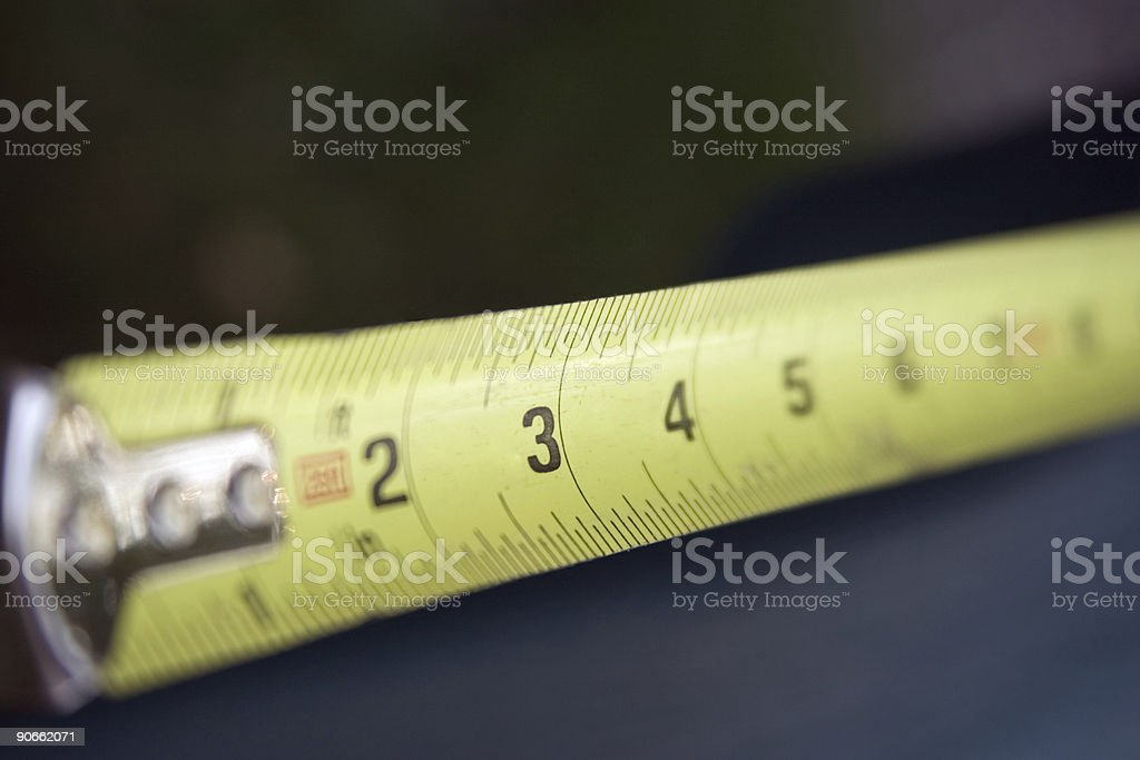 Measuring Tape with selective focus stock photo