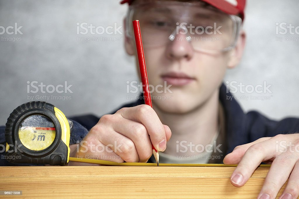Measuring the distance royalty-free stock photo