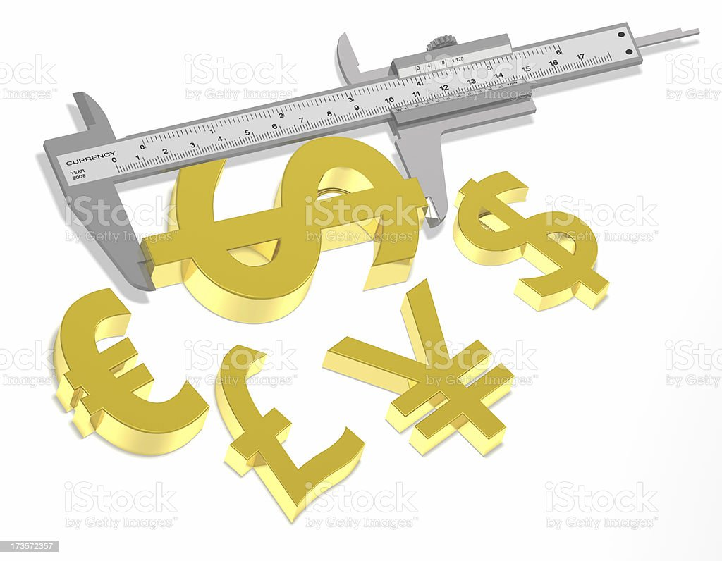 Measuring the Dollar royalty-free stock photo