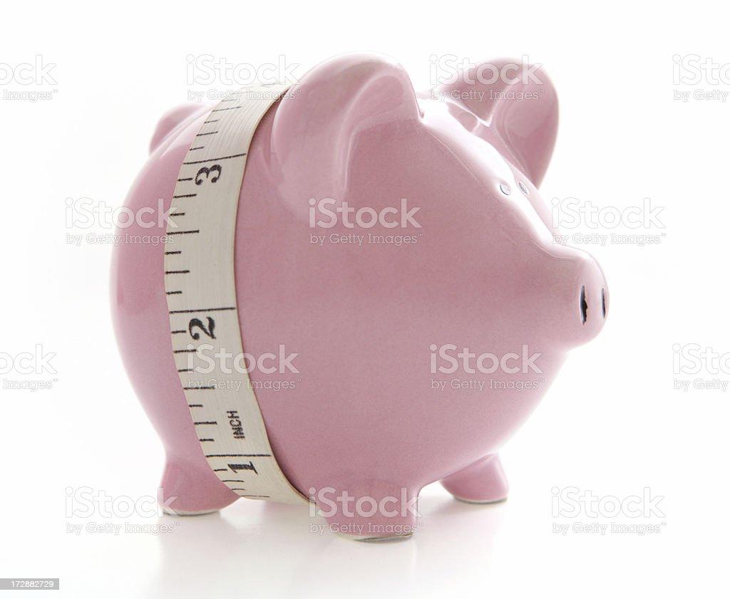 Measuring the Savings royalty-free stock photo