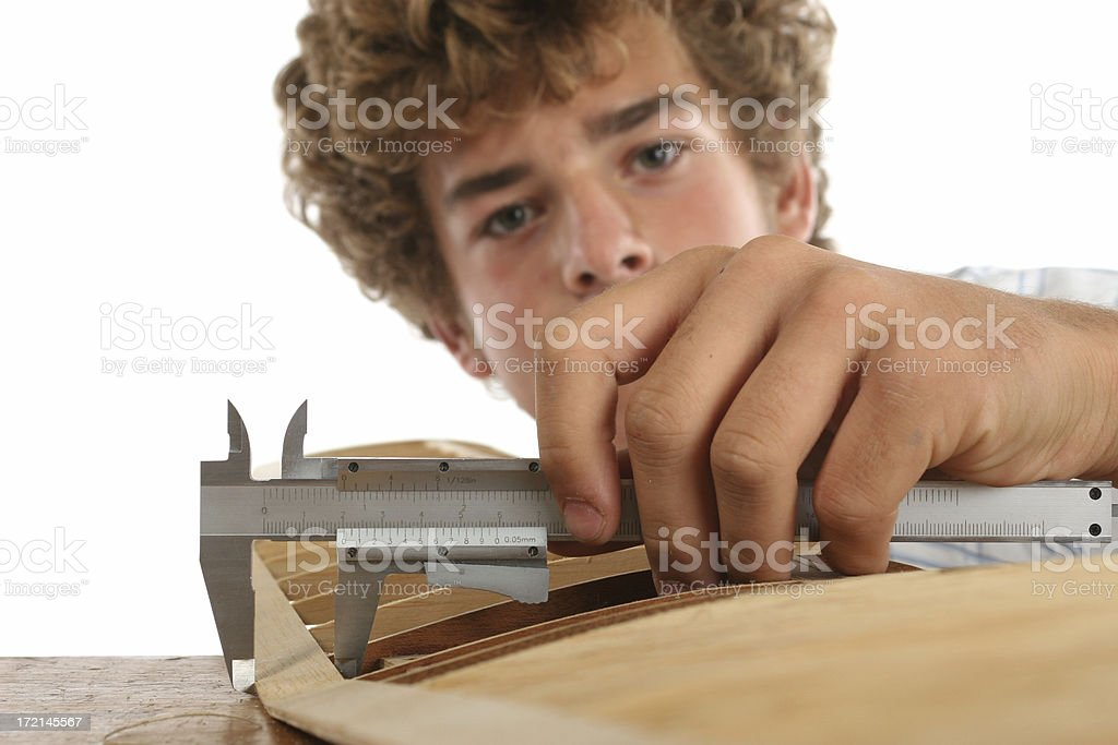 Measuring thickness royalty-free stock photo