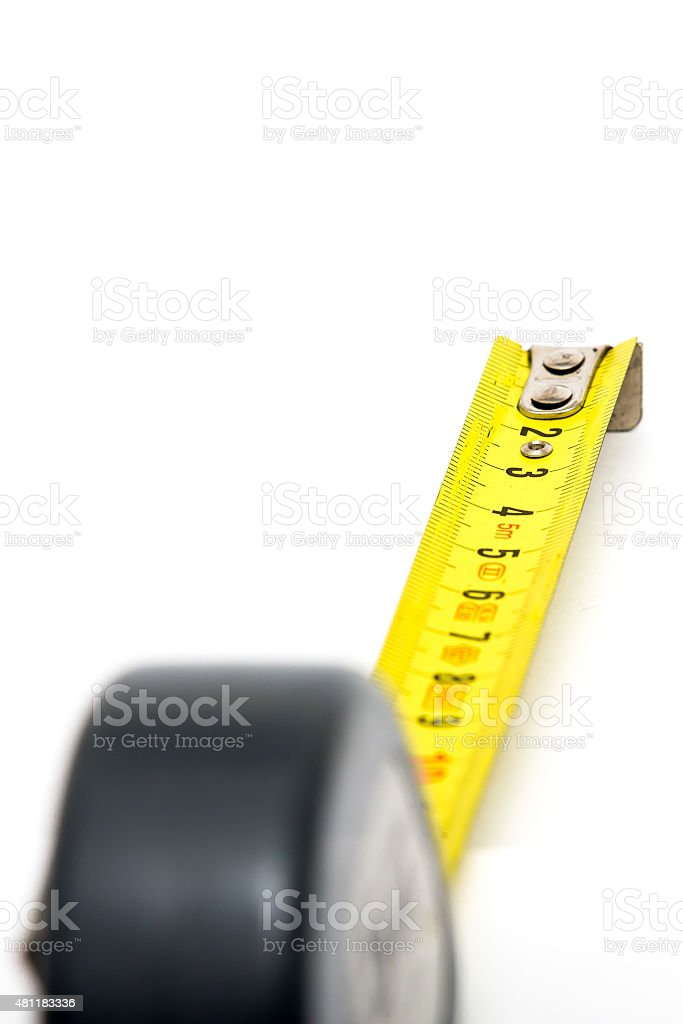 measuring  tool Isolated object on white stock photo
