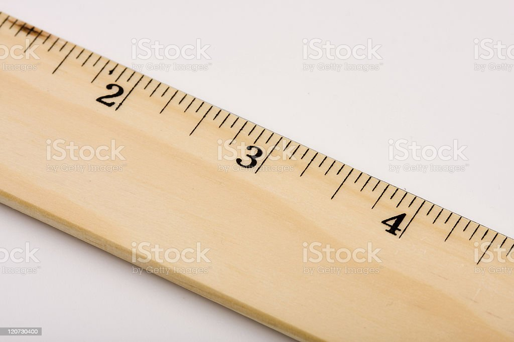 Measuring up. stock photo