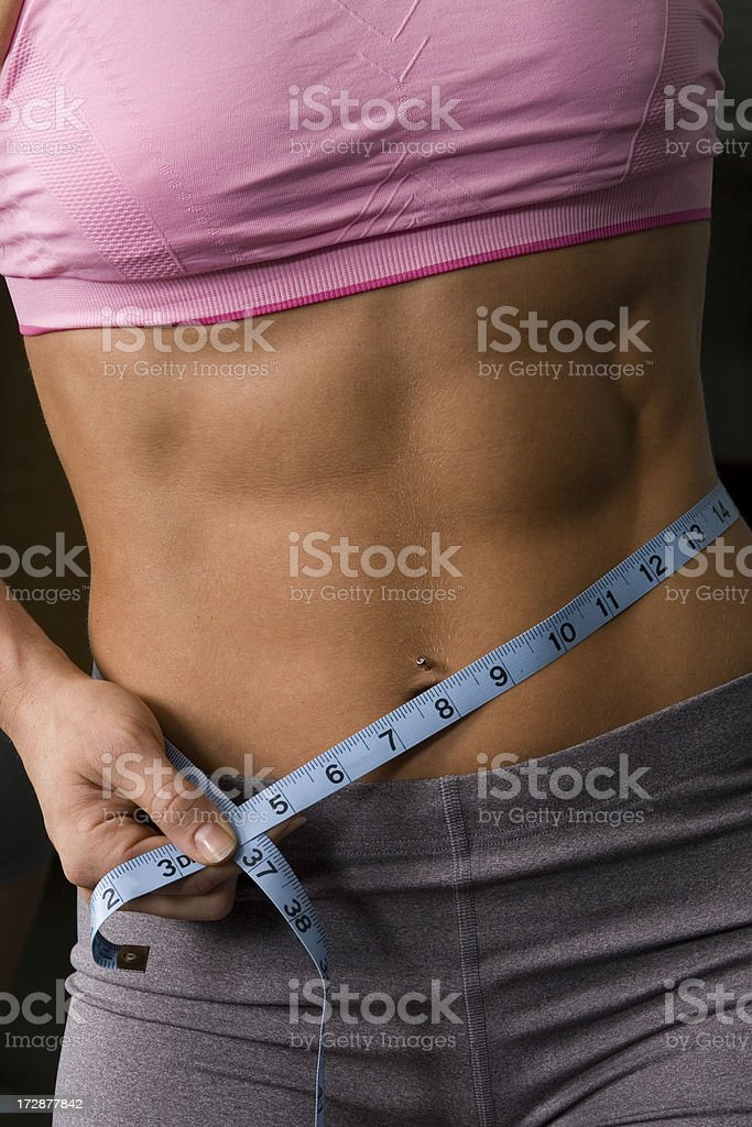 Measuring up. royalty-free stock photo