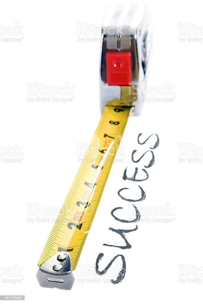 Measuring your Success stock photo