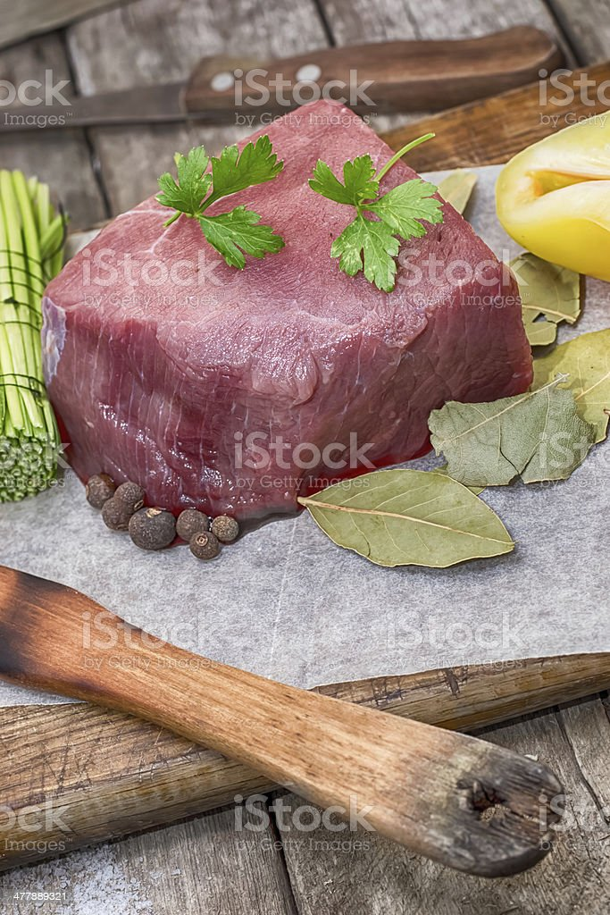 Meat a beef royalty-free stock photo
