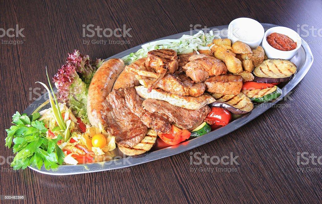 meat allsorts stock photo