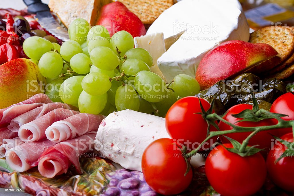Meat and Cheese Plate royalty-free stock photo