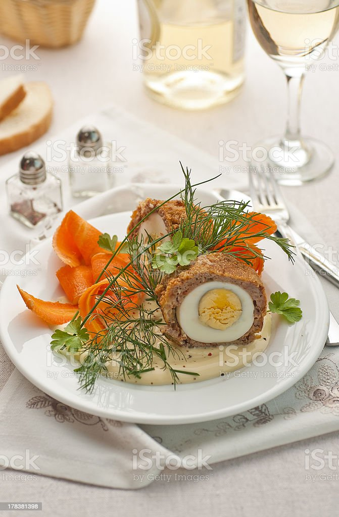 Meat and egg ball royalty-free stock photo