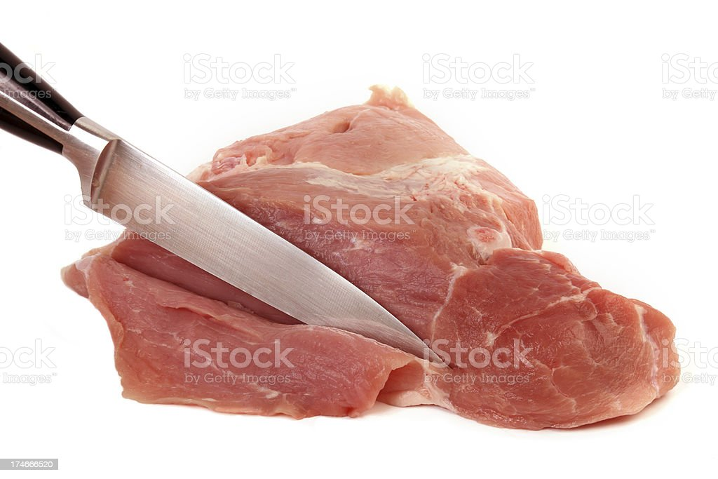 Meat and knife royalty-free stock photo