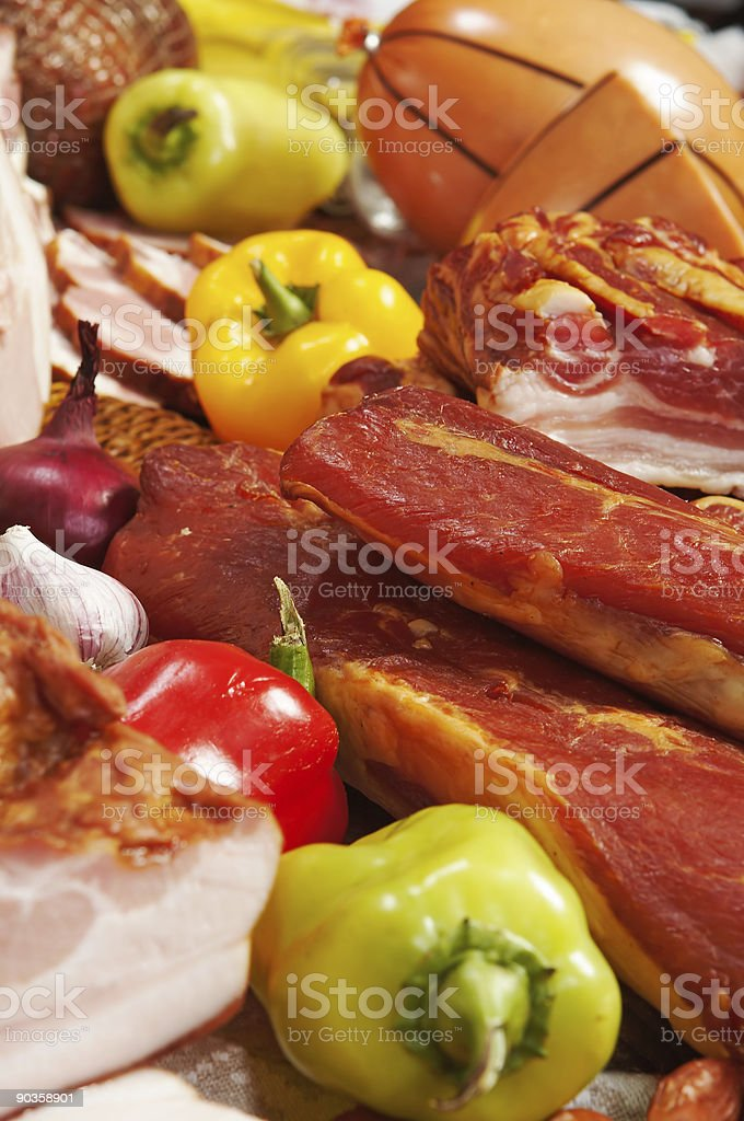 meat and pepper royalty-free stock photo