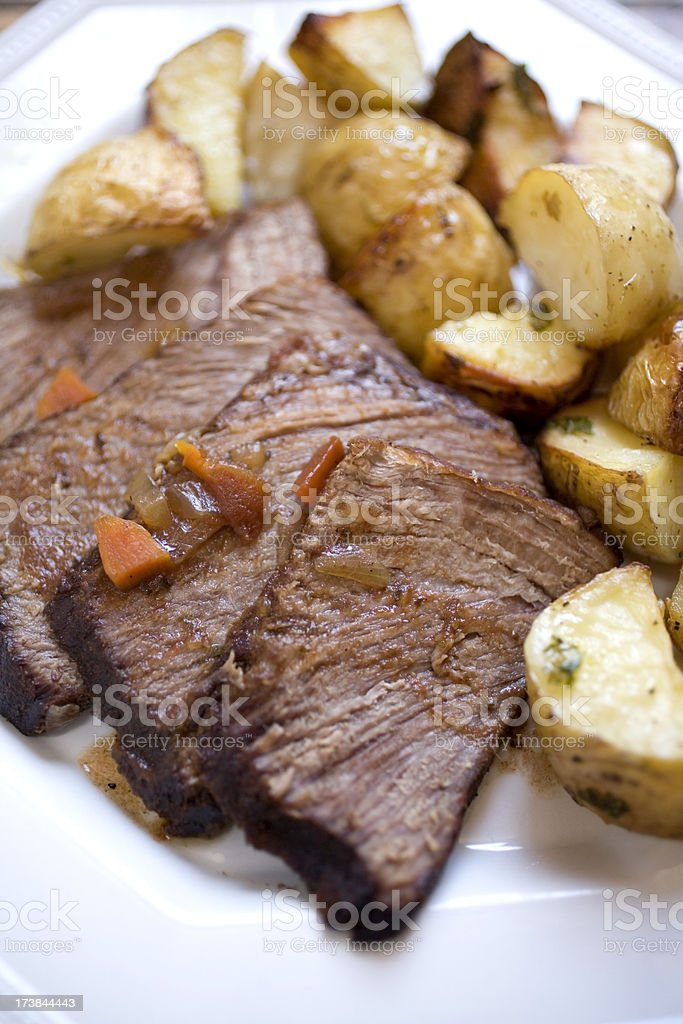 Meat and Potatoes royalty-free stock photo