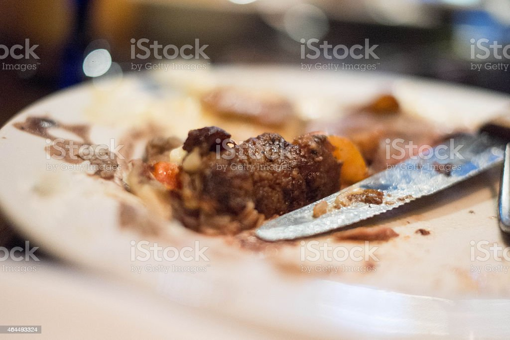 Meat and rice stock photo