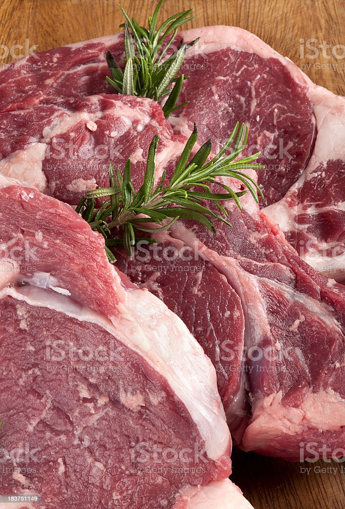 Meat and rosemary royalty-free stock photo