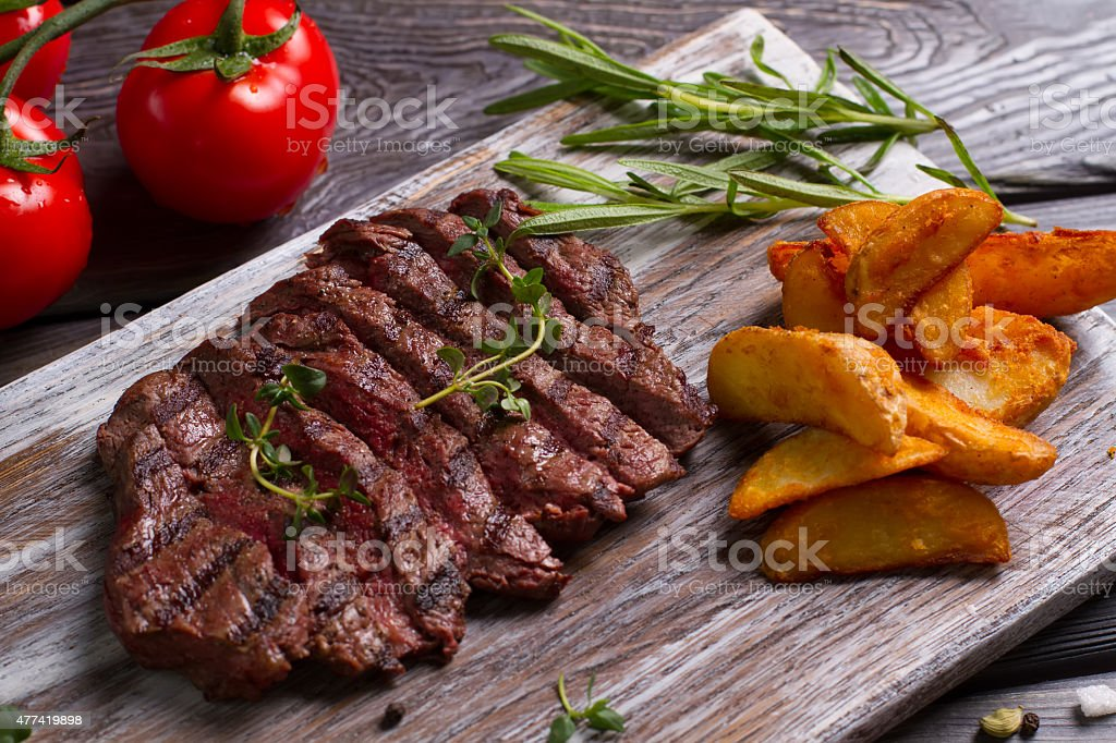 Meat and rosemary. stock photo