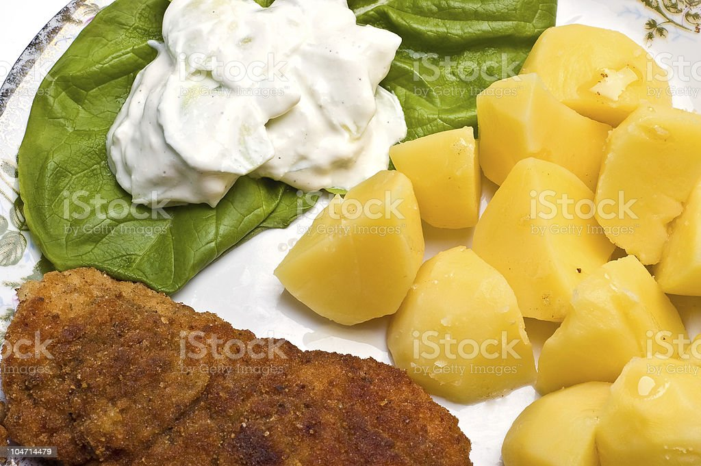 Meat and vegetable royalty-free stock photo