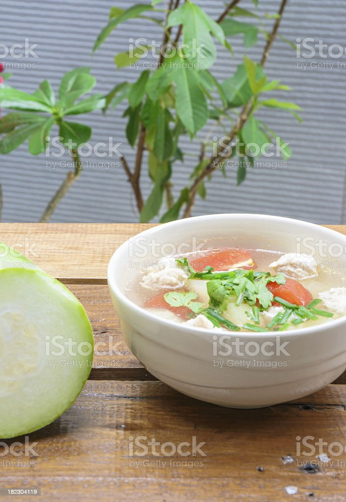 meat and vegetable soup royalty-free stock photo