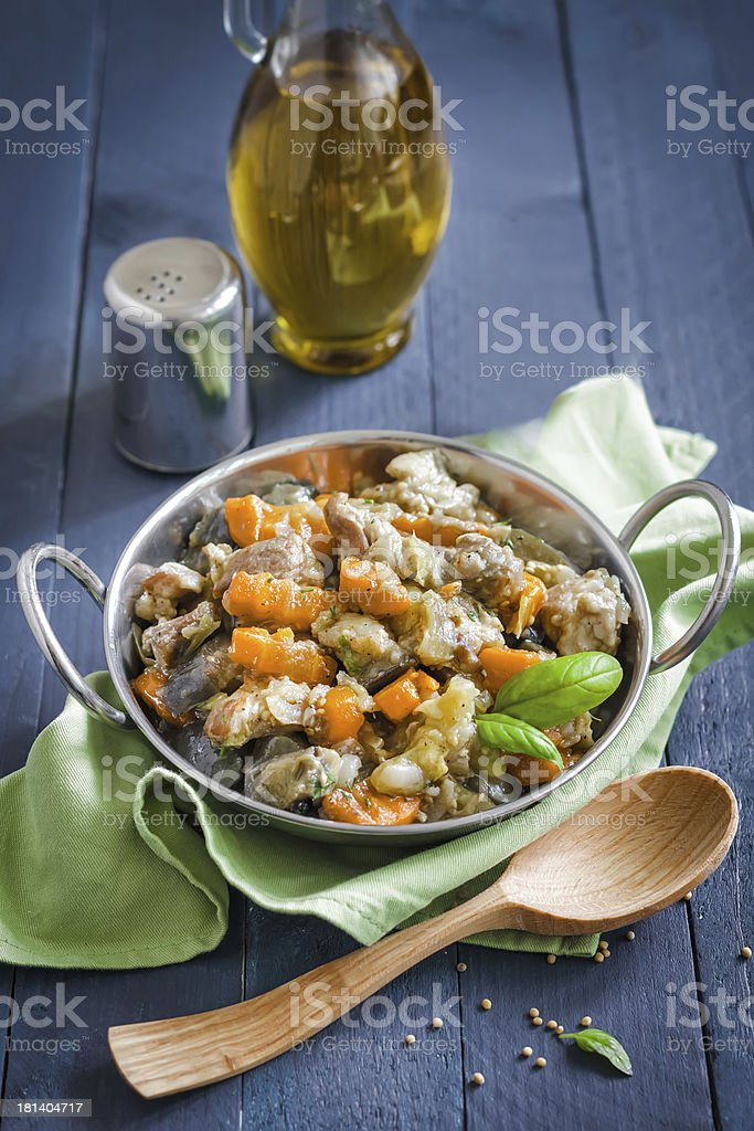 Meat and vegetables royalty-free stock photo