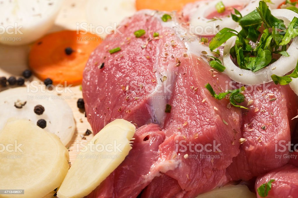 Meat arrangement royalty-free stock photo