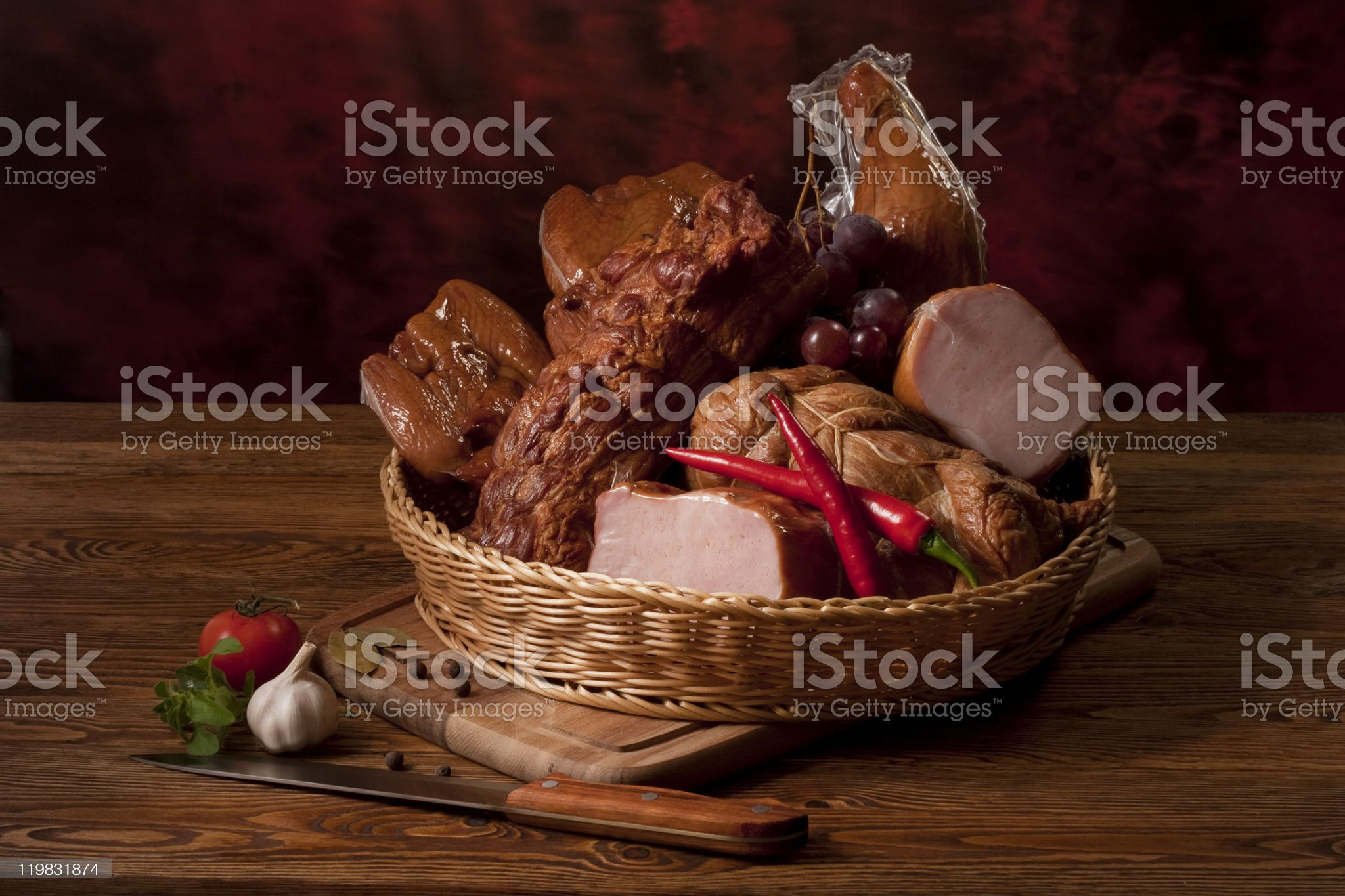 Meat assortment royalty-free stock photo