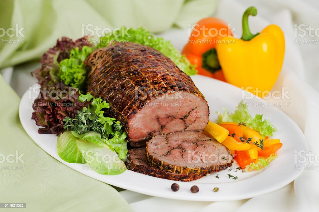 meat baked with expert stock photo