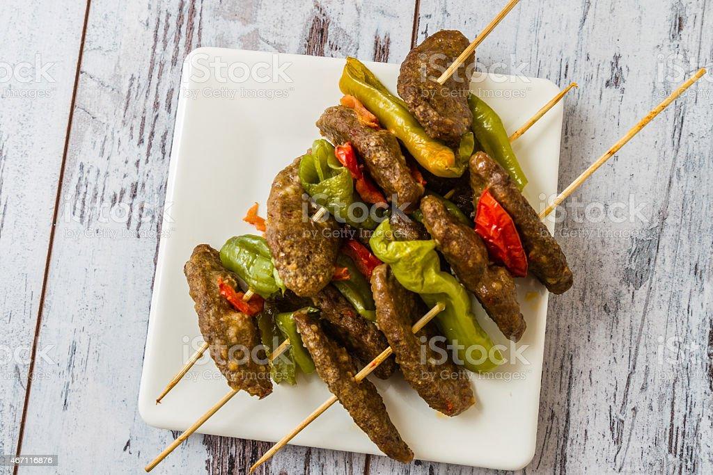 Meat Ball at Shish stock photo