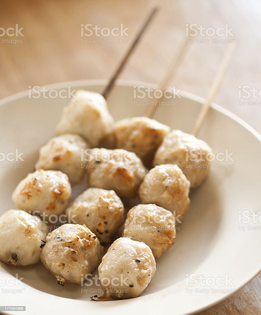meat ball grilled stock photo