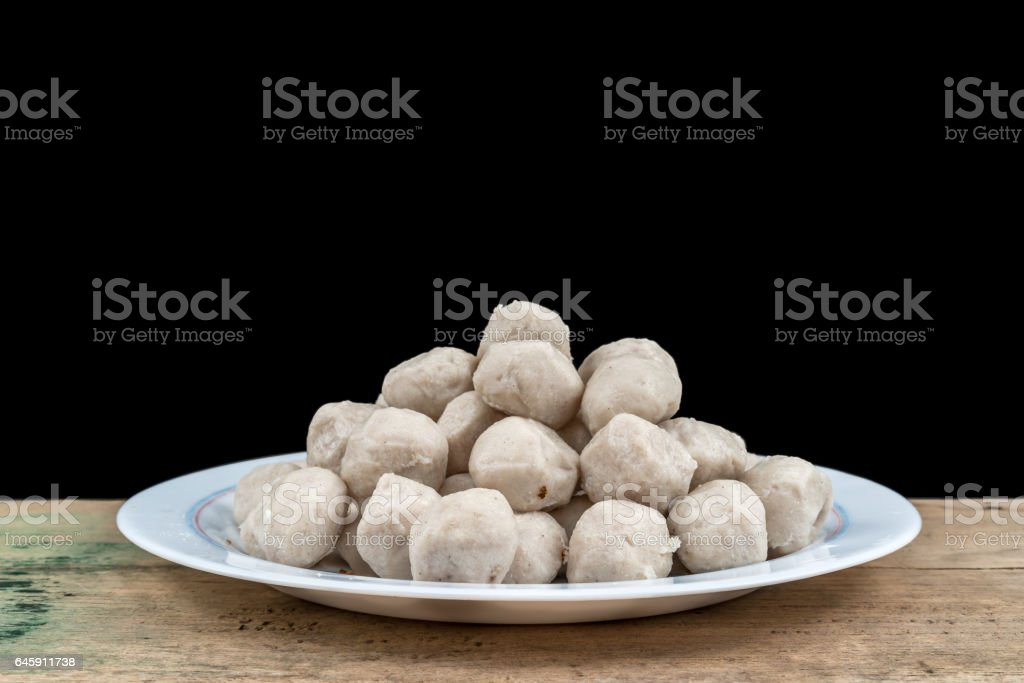 Meat balls stock photo
