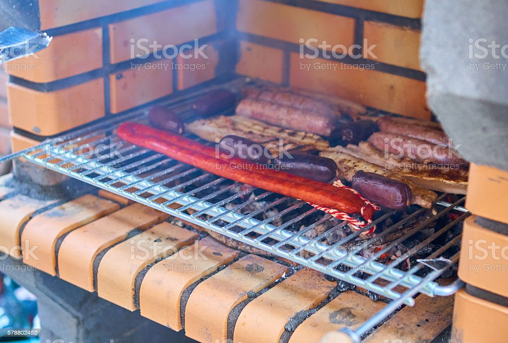 Meat BBQ stock photo
