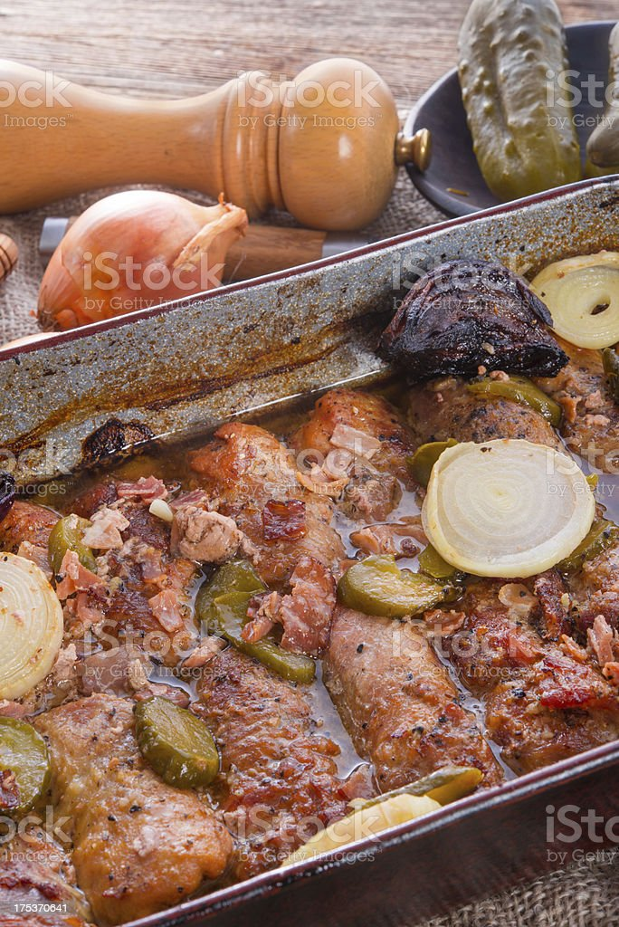 meat beefs olive stock photo