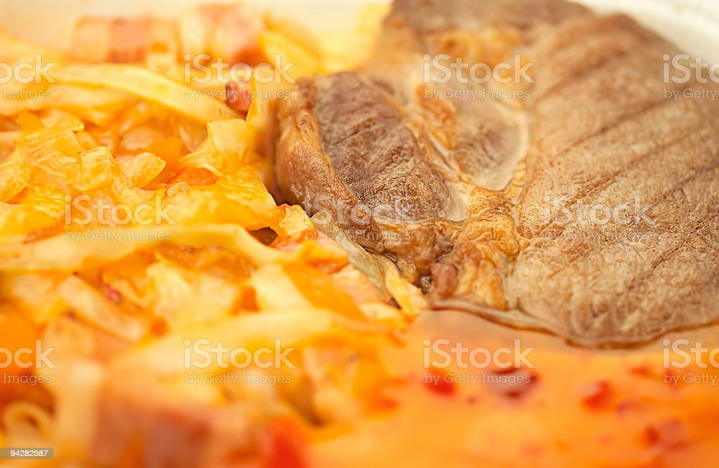 Meat & Cabbage_a royalty-free stock photo