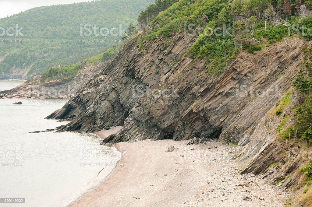 Meat Cove in Cape Breton - Nova Scotia - Canada stock photo