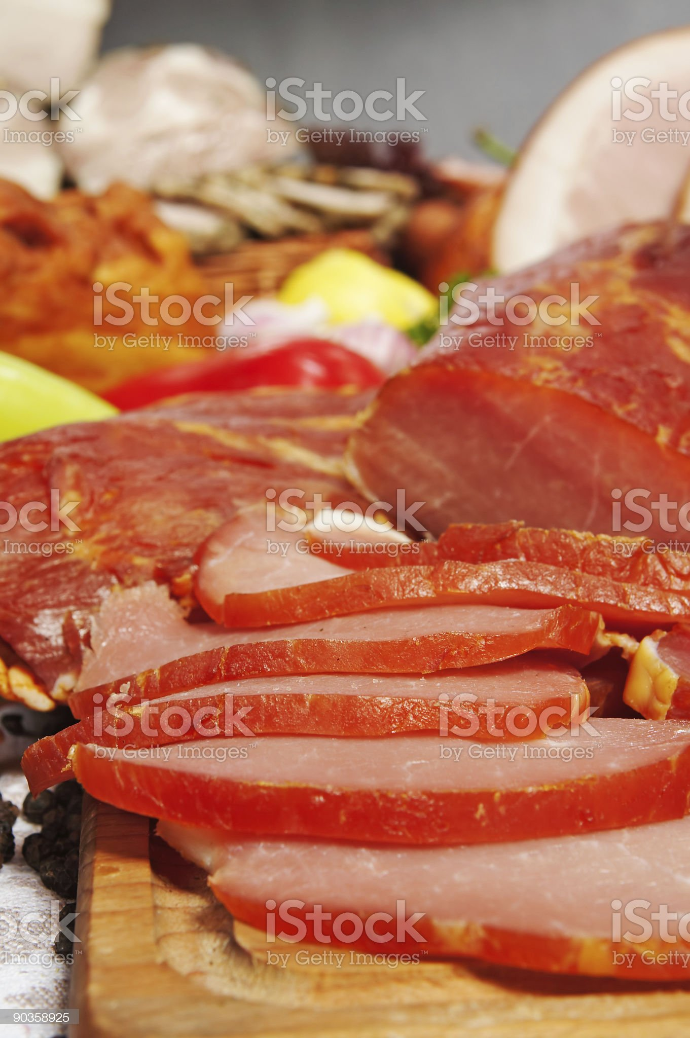 meat cut in piecies royalty-free stock photo