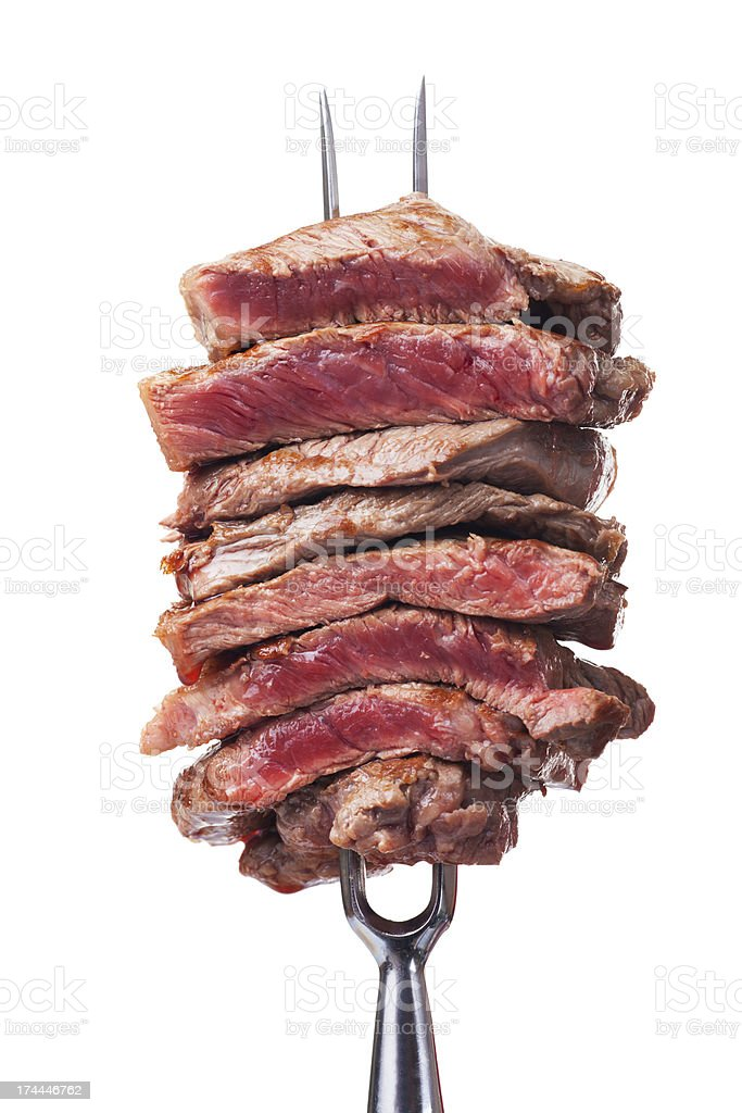 meat fork royalty-free stock photo