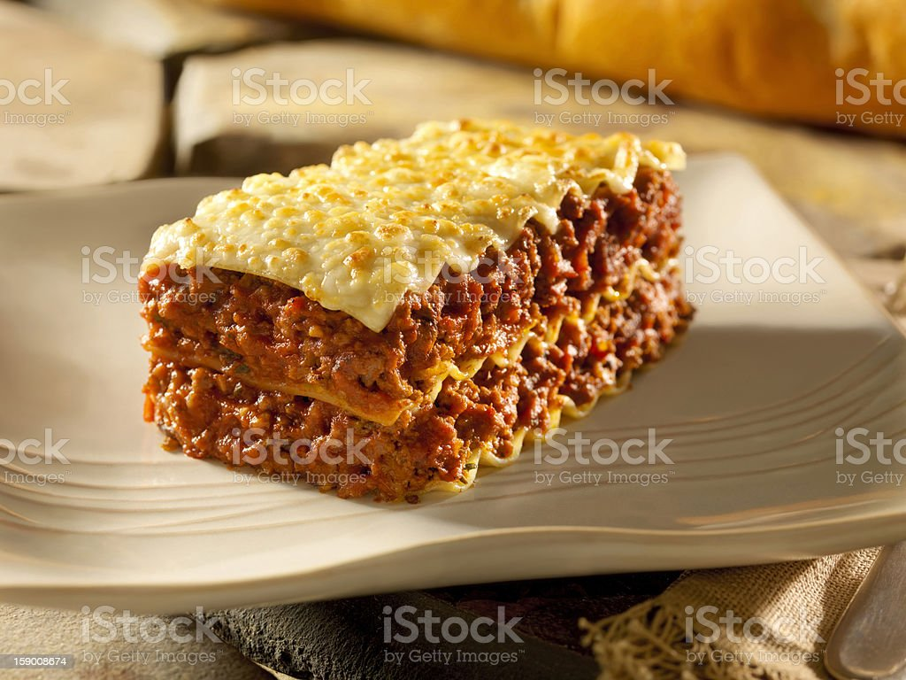 Meat Lasagna royalty-free stock photo