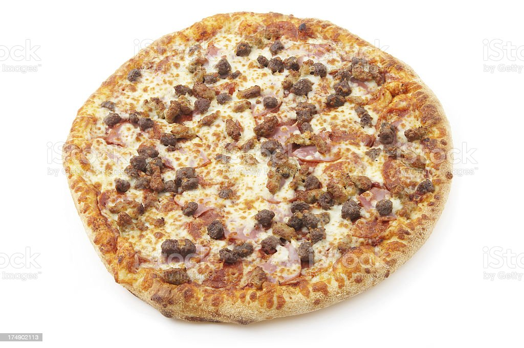 meat lovers pizza #4 stock photo